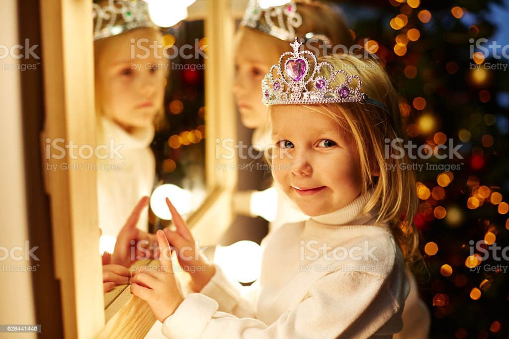 Charming little girls stock photo