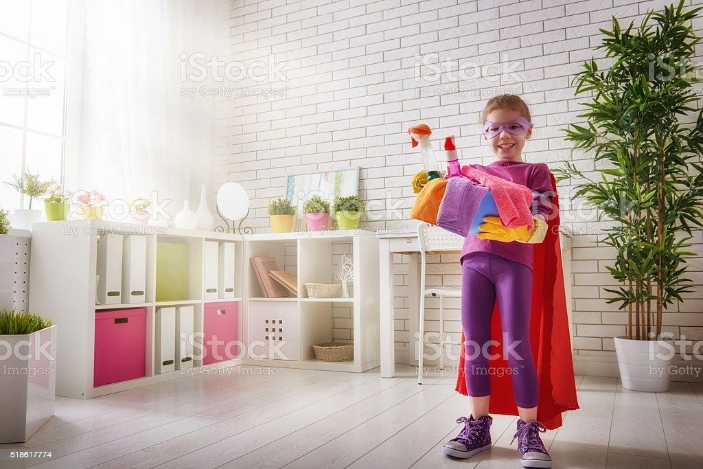 charming little helper stock photo