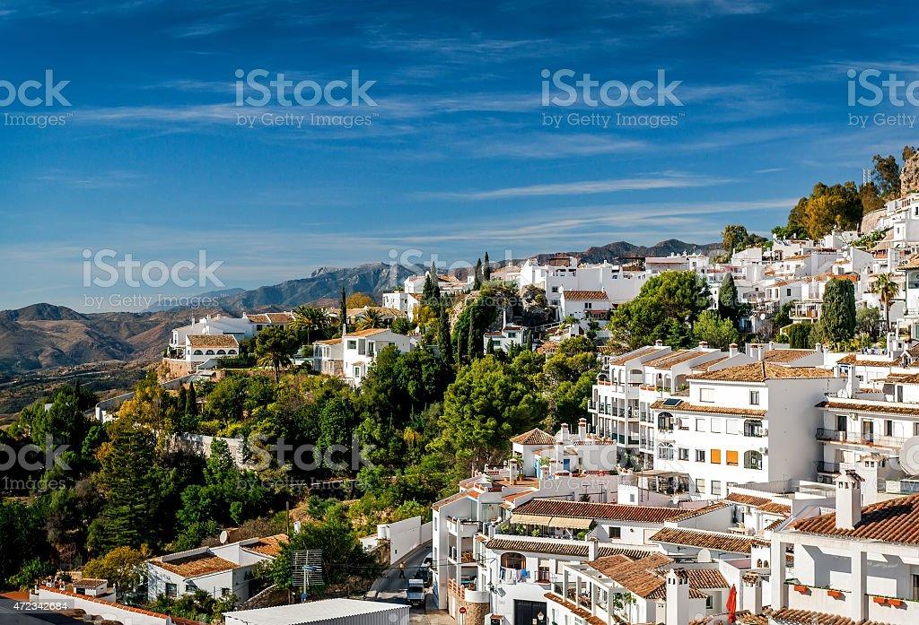 Charming little white village of Mijas stock photo