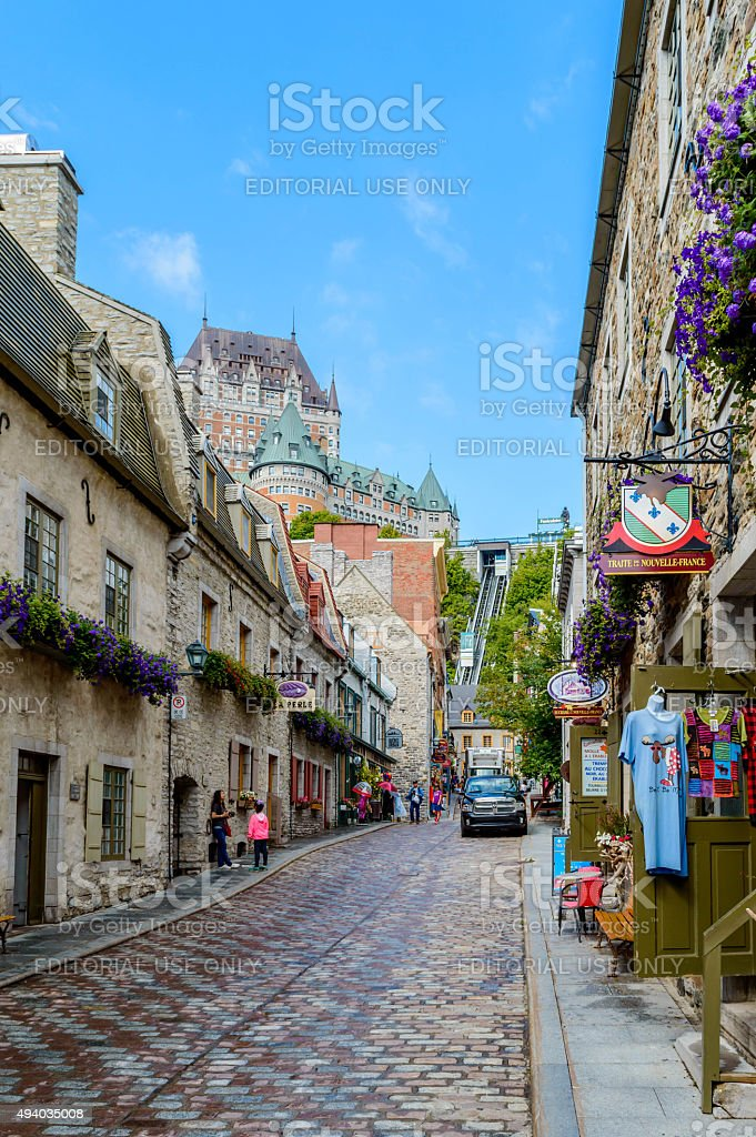 Charming Old Quebec stock photo