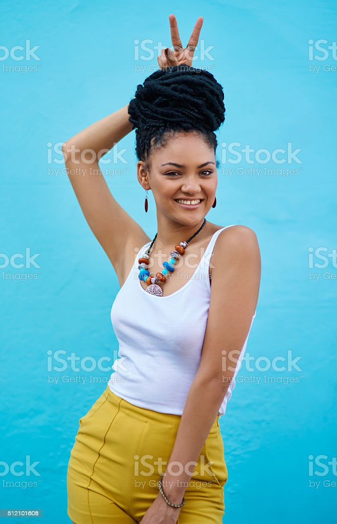 Charming personality and style to match stock photo