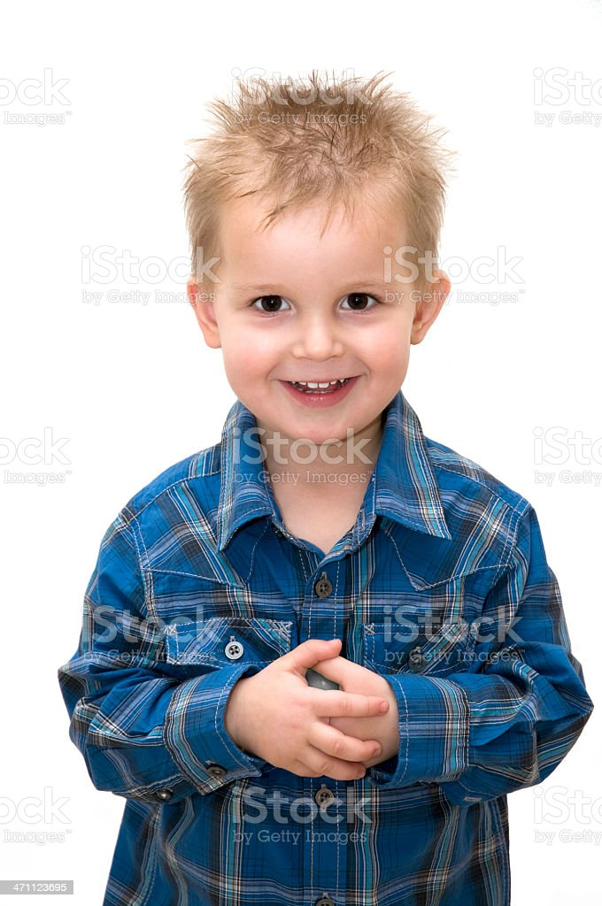 charming smiling little boy royalty-free stock photo