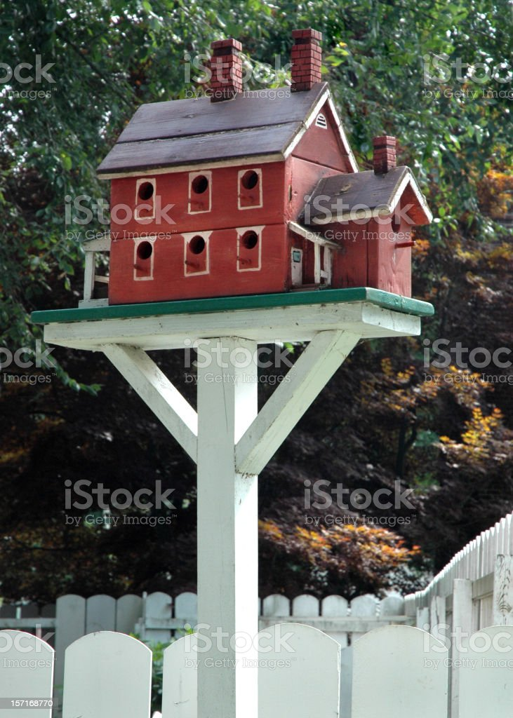 Charming Two Story Birdhouse royalty-free stock photo