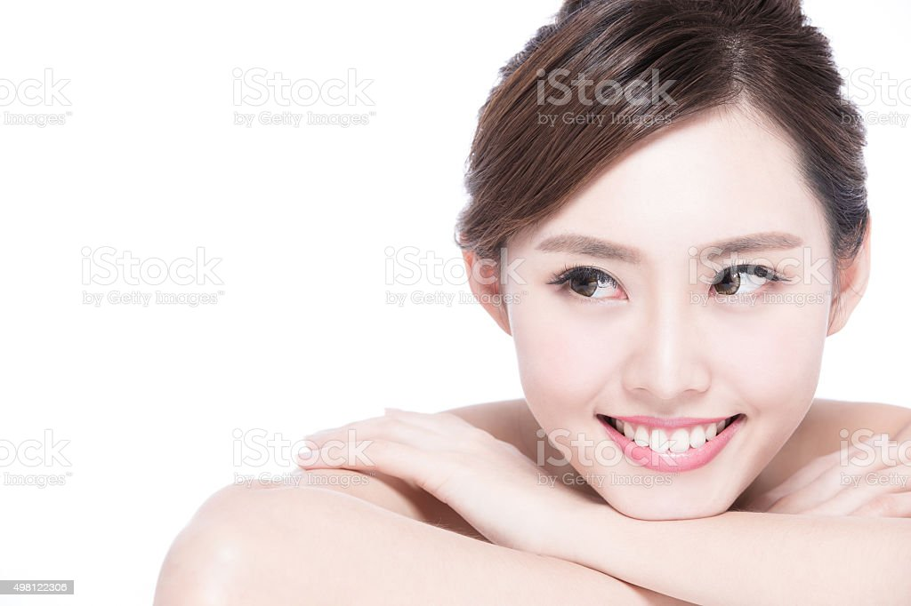 Charming woman Smile face stock photo