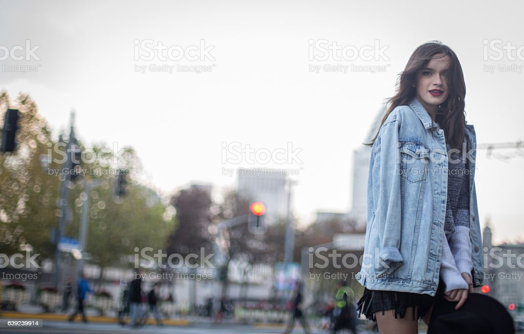 Charming young girl stock photo