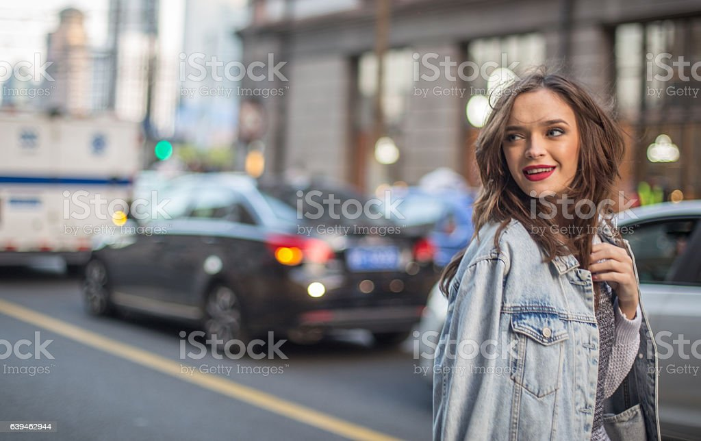 Charming young woman stock photo