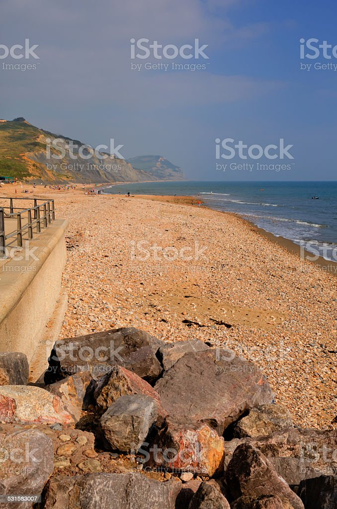 Charmouth beach Dorset England UK stock photo