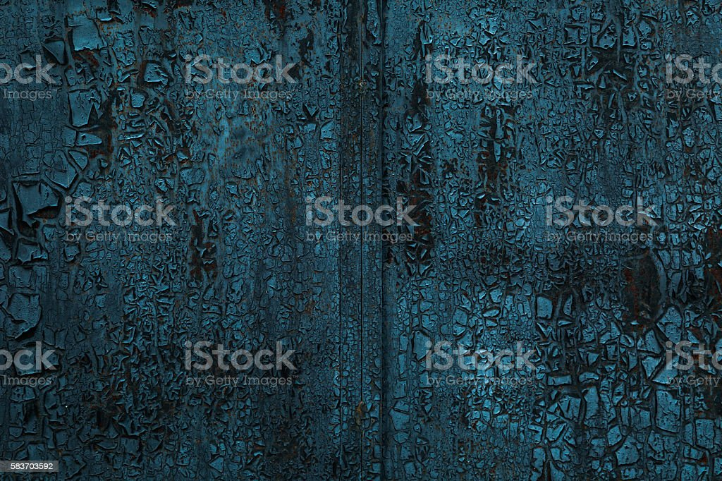 Charred metal surface stock photo