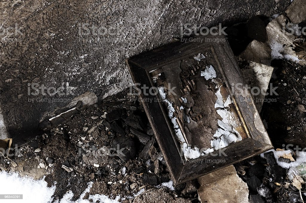 Charred Picture Frame stock photo