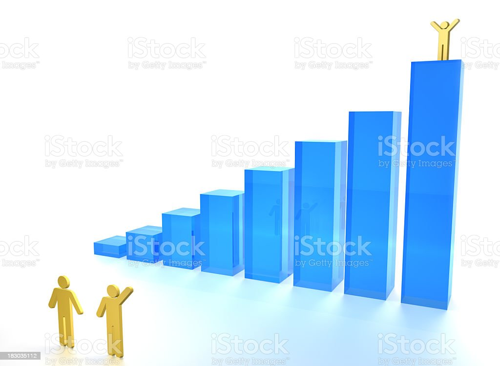 Chart 3D royalty-free stock photo