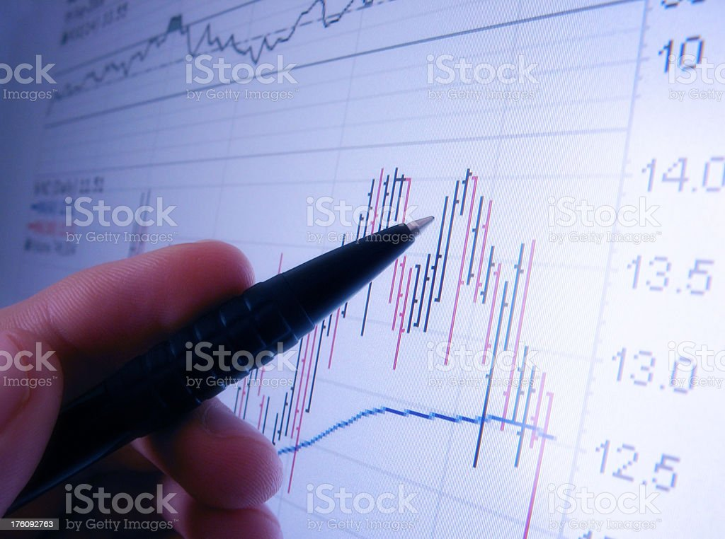 Chart Analysis stock photo