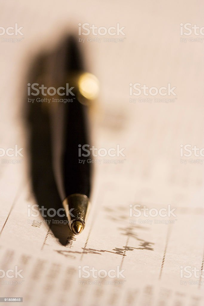 Chart analysis royalty-free stock photo