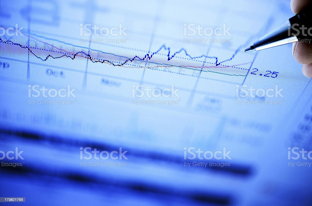 Chart Analyze royalty-free stock photo
