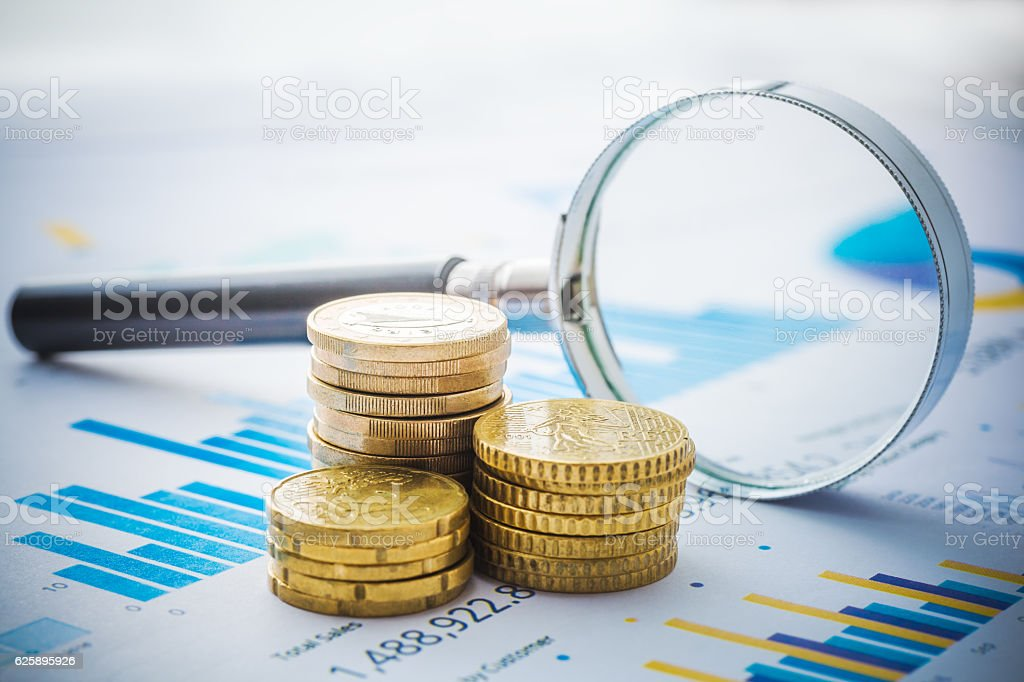 Chart Analyze stock photo