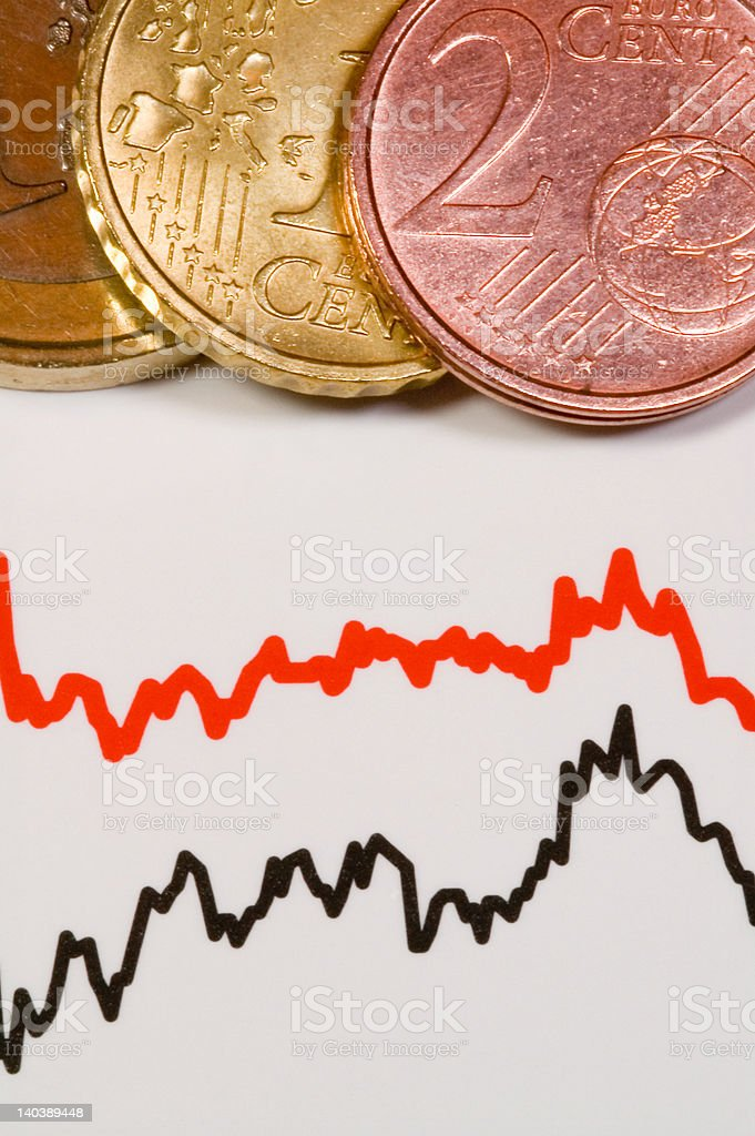 Chart and Money royalty-free stock photo