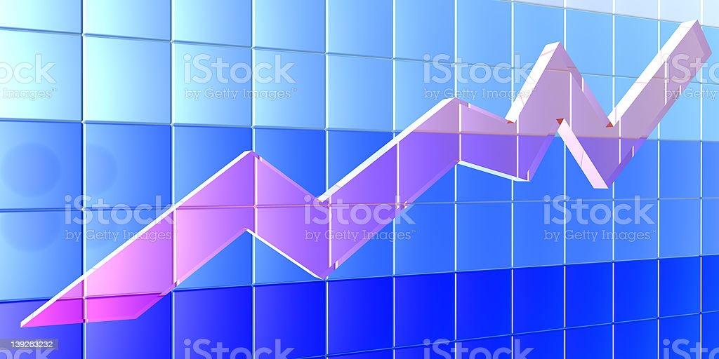 3D Chart - angle royalty-free stock photo