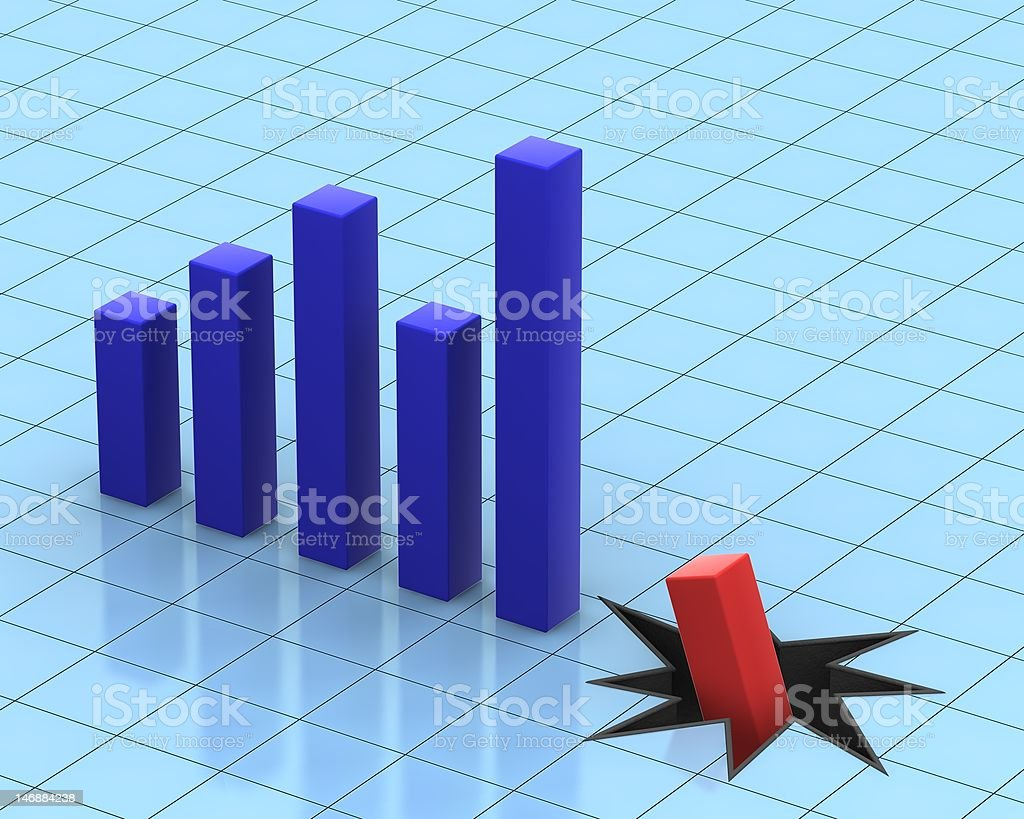 Chart Breaker royalty-free stock photo