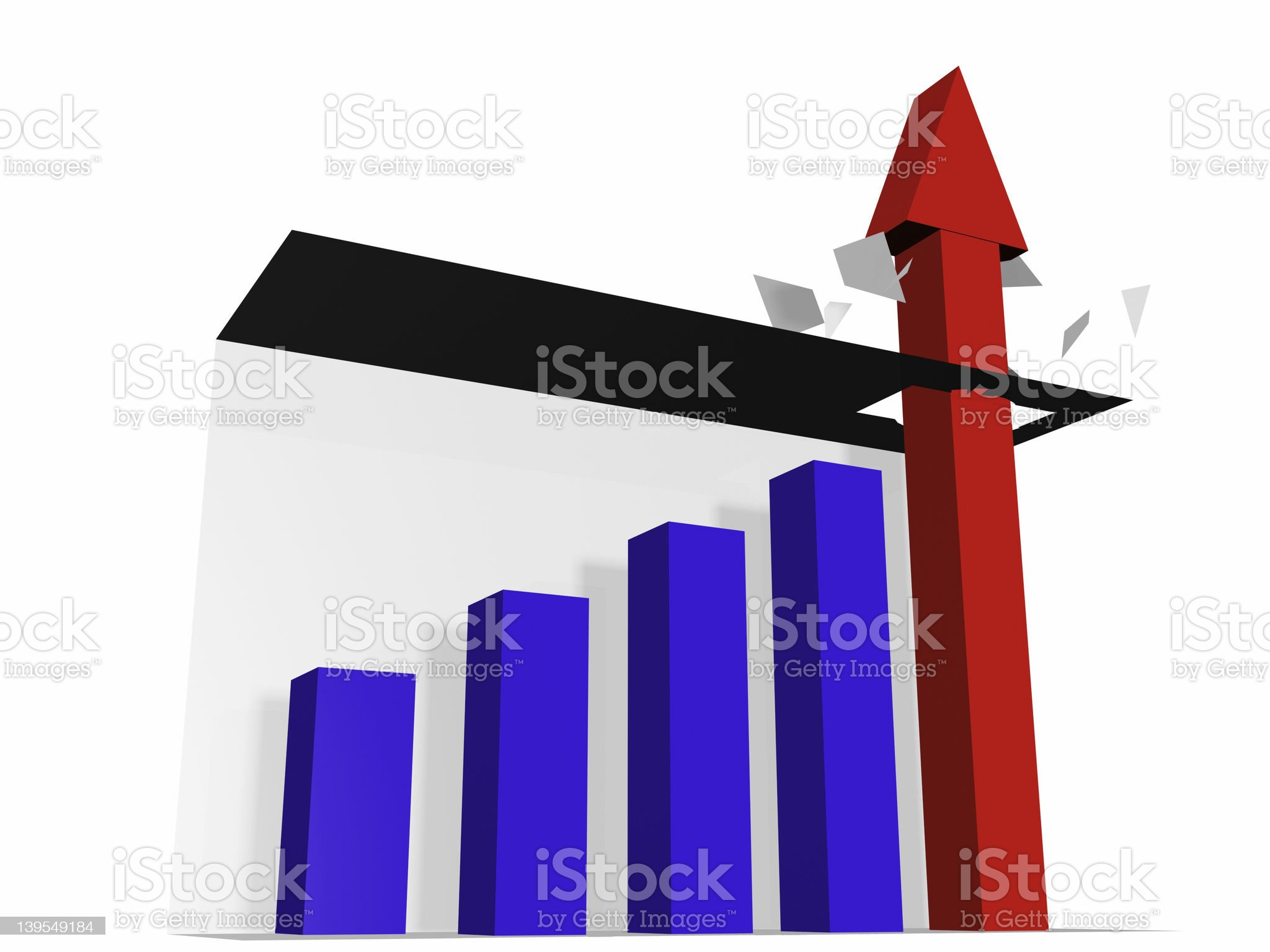 Chart Buster 3 royalty-free stock photo