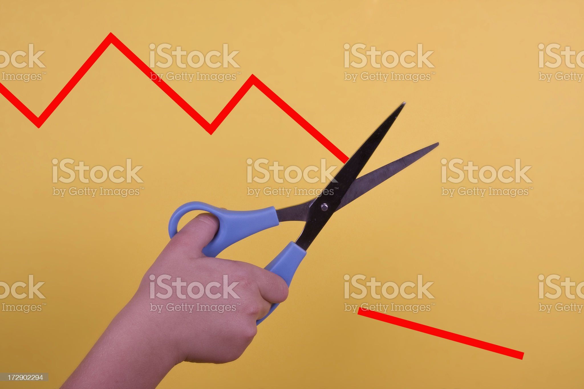 Chart Cut royalty-free stock photo