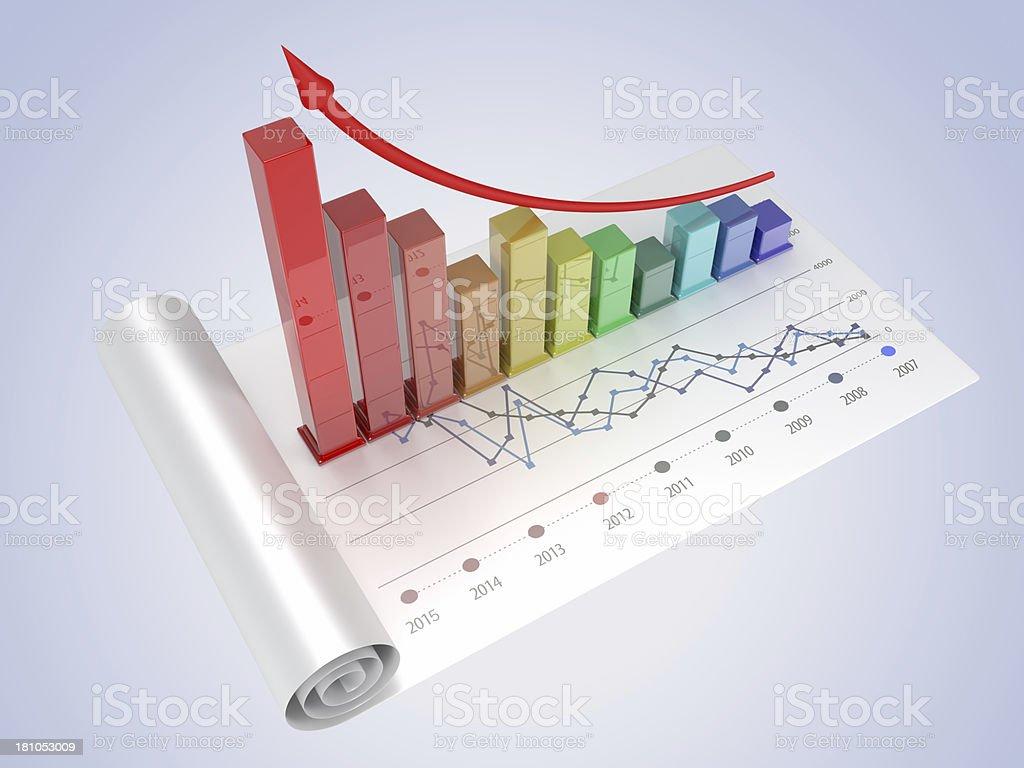 Chart Data royalty-free stock photo