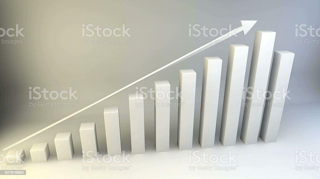 3D Chart FULL HD stock photo