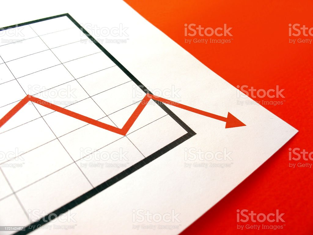chart negative (hi res) stock photo