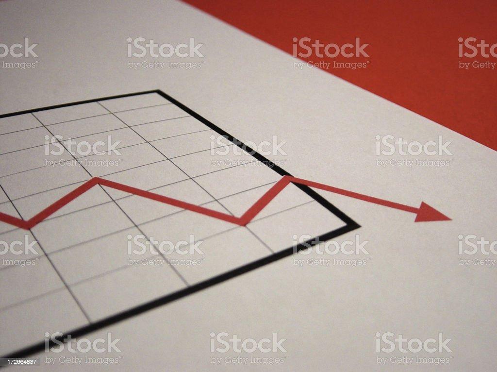 chart - negative stock photo