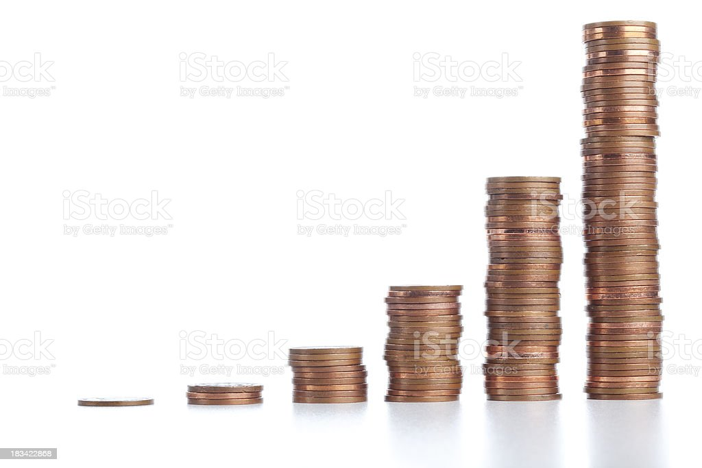 Chart of coin's Stacks royalty-free stock photo