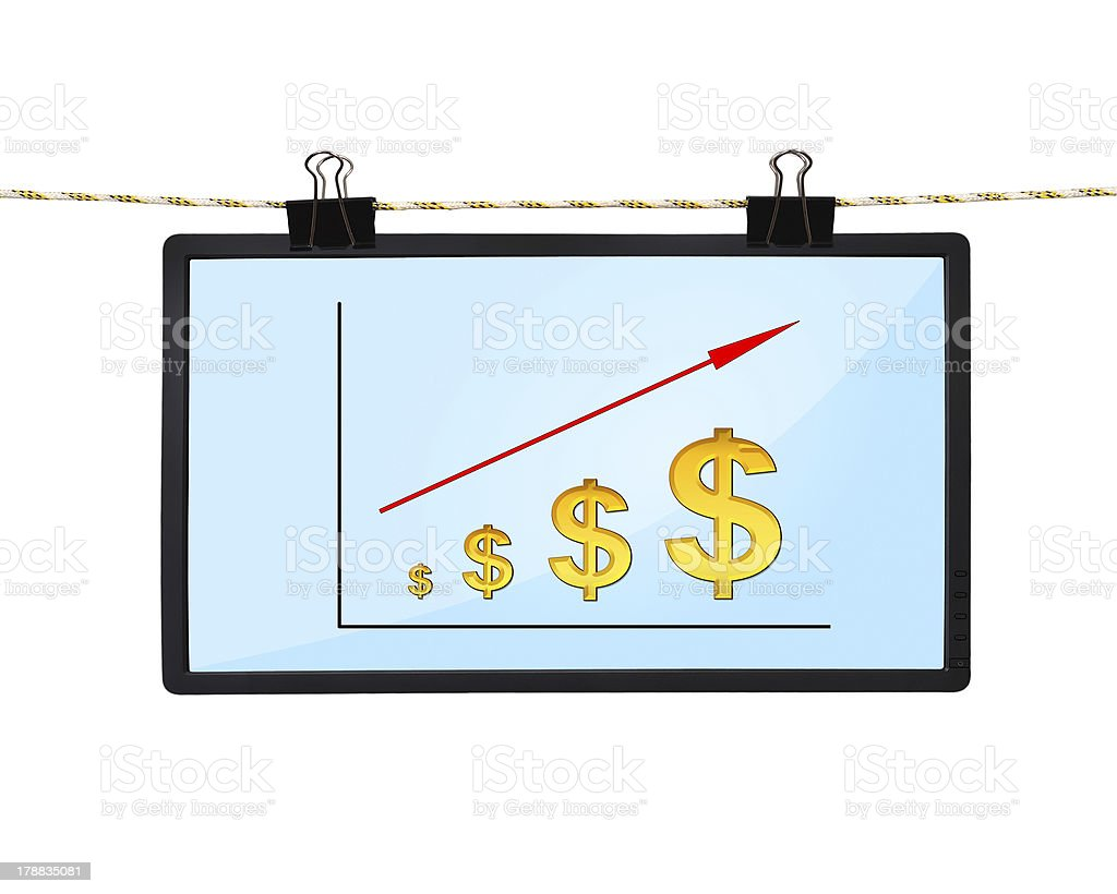 chart of dollar stock photo