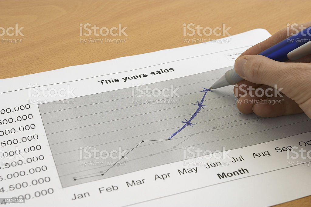 Chart of sales royalty-free stock photo