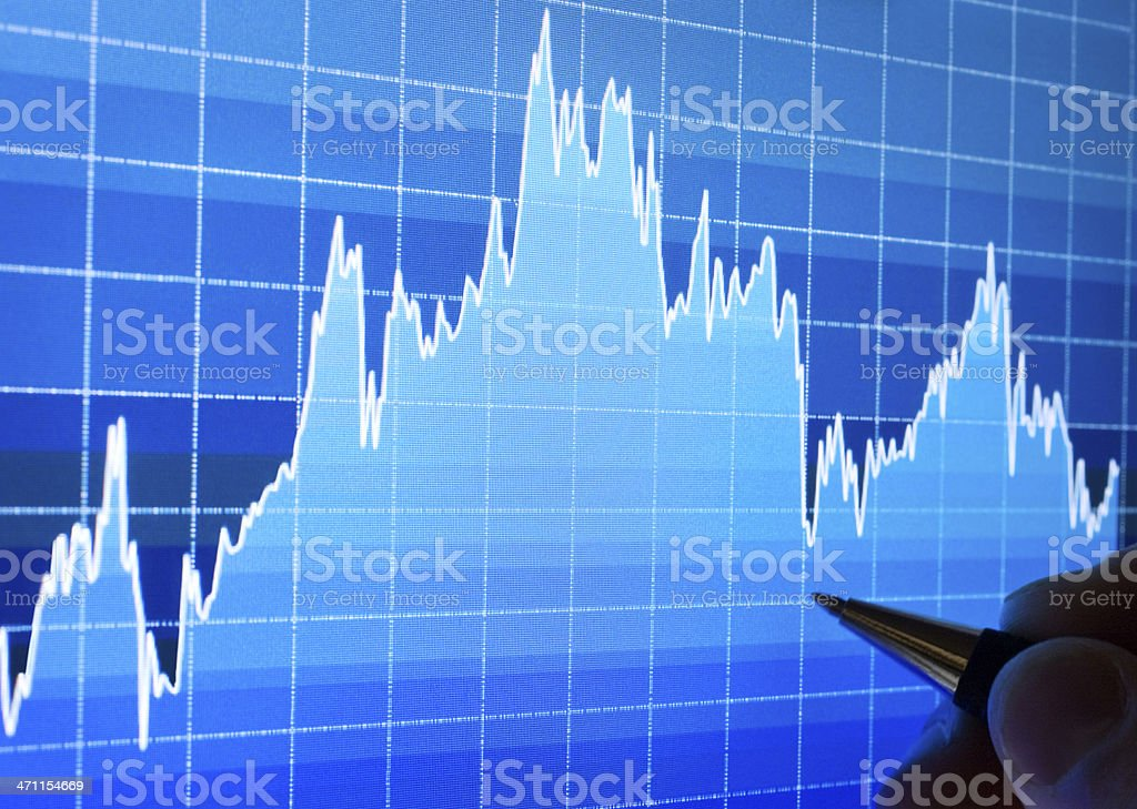 Chart  on LCD screen royalty-free stock photo