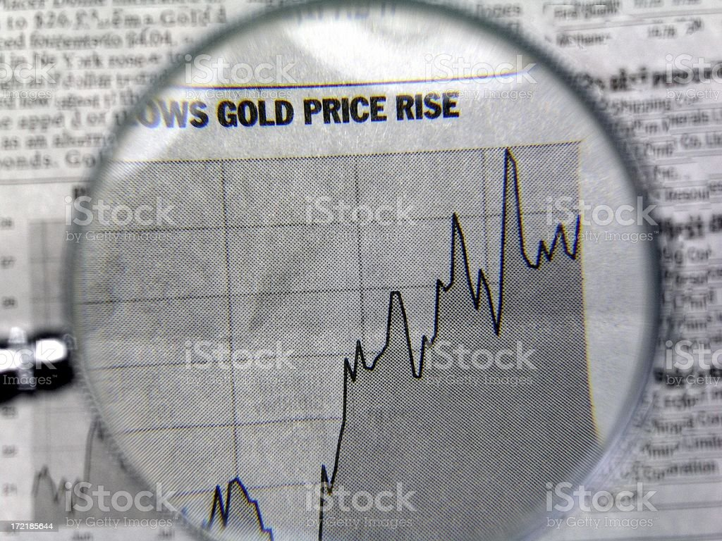 Chart On Rise Of Gold royalty-free stock photo
