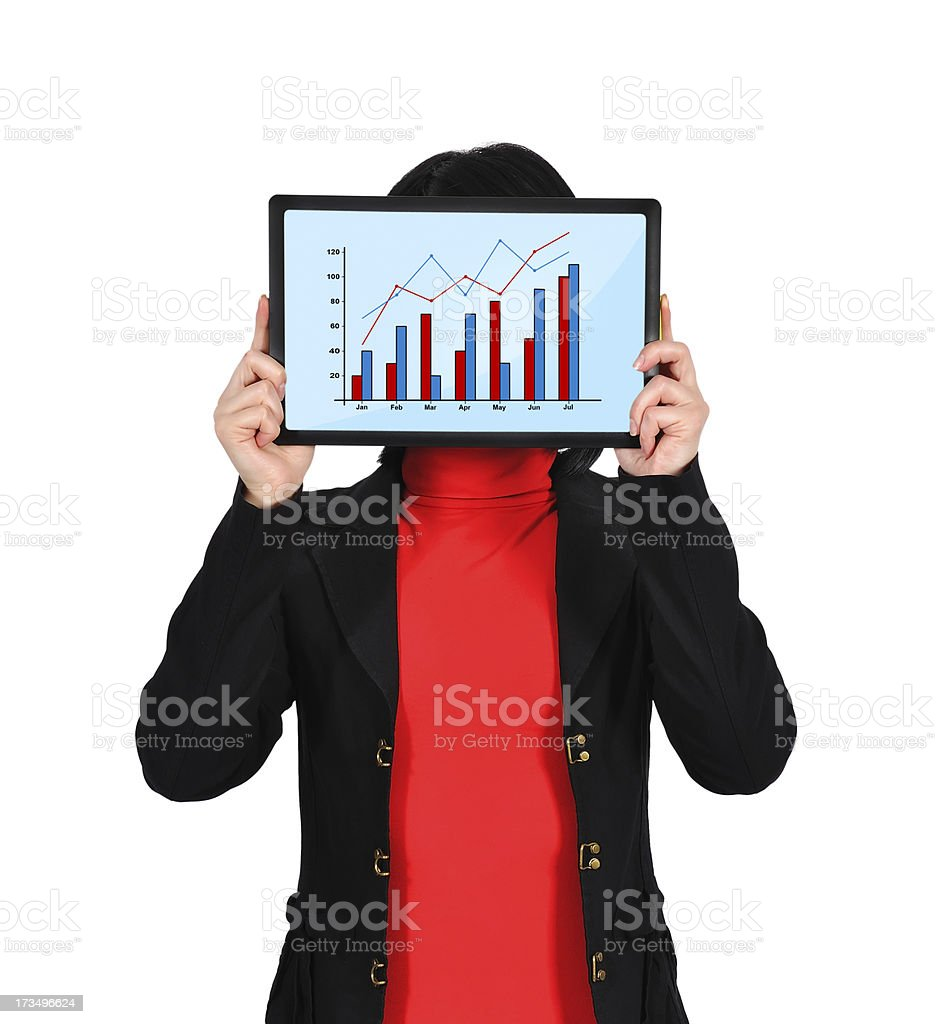 chart on screen royalty-free stock photo