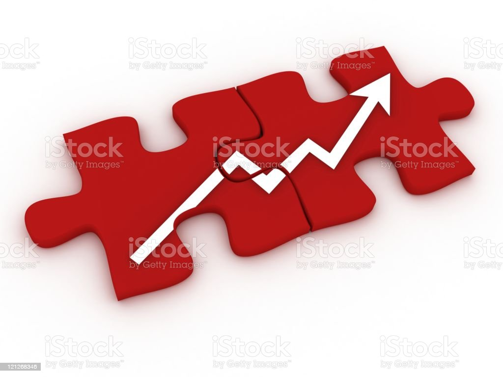 Chart Puzzle stock photo