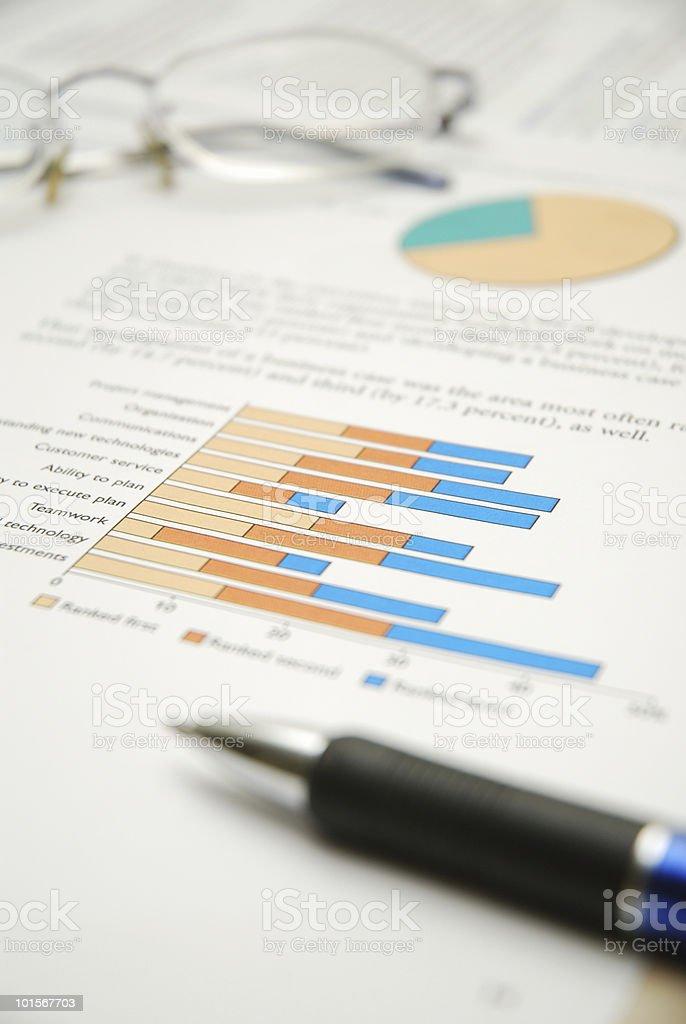 Chart Report stock photo