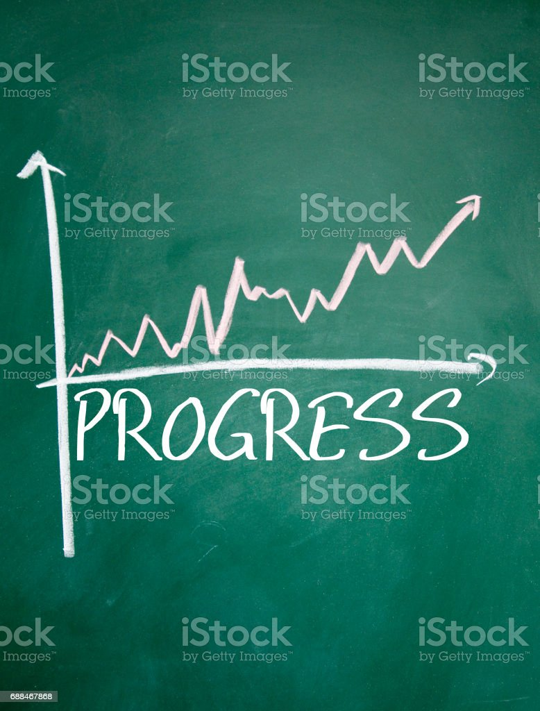 chart sign stock photo