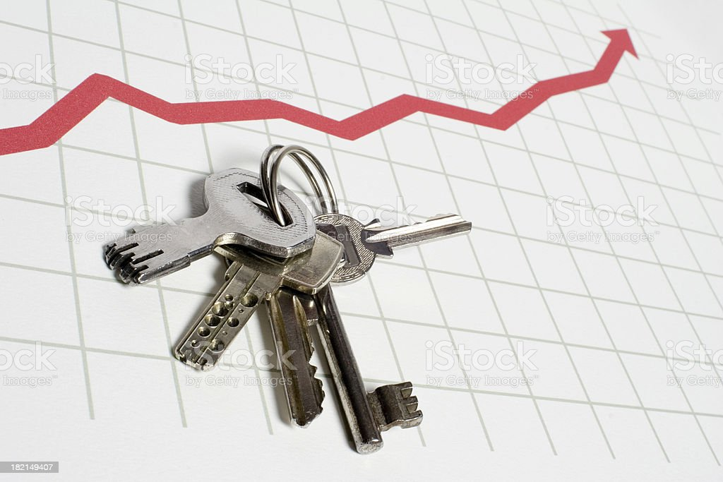 Chart with key to success stock photo