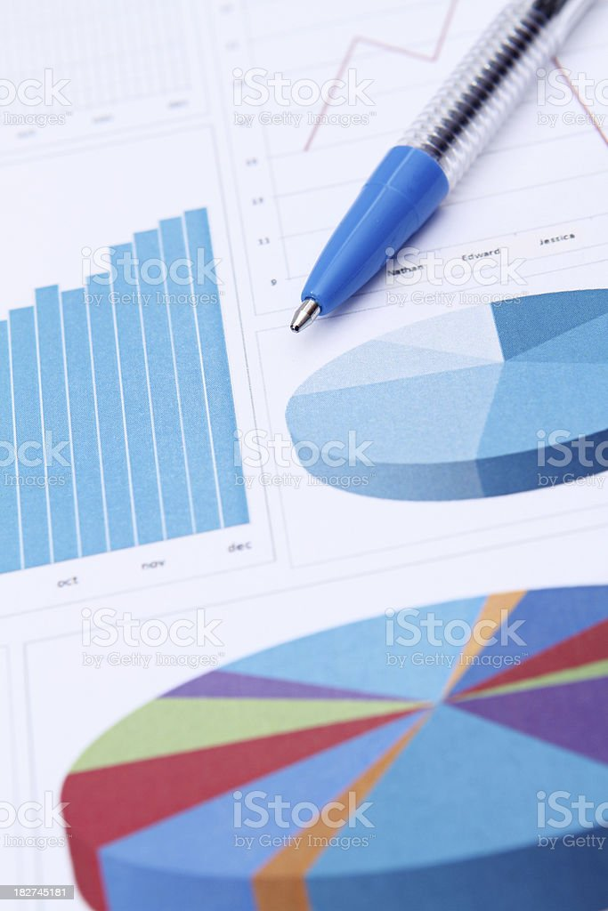 Charted Financial Data royalty-free stock photo