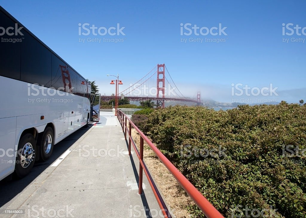 Charter Bus royalty-free stock photo