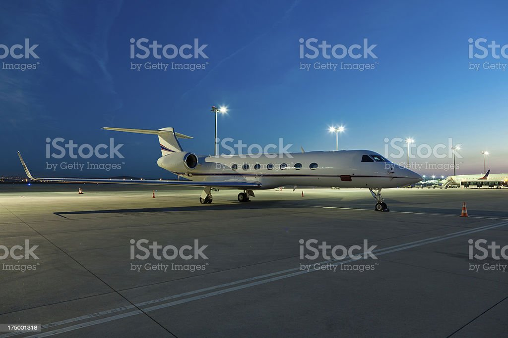 Charter Jet stock photo