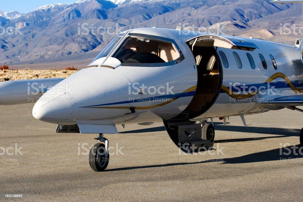 Charter Jet-8 stock photo