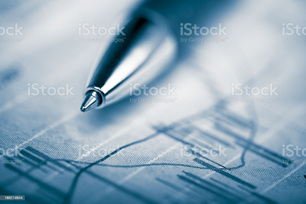 charting financial stats royalty-free stock photo