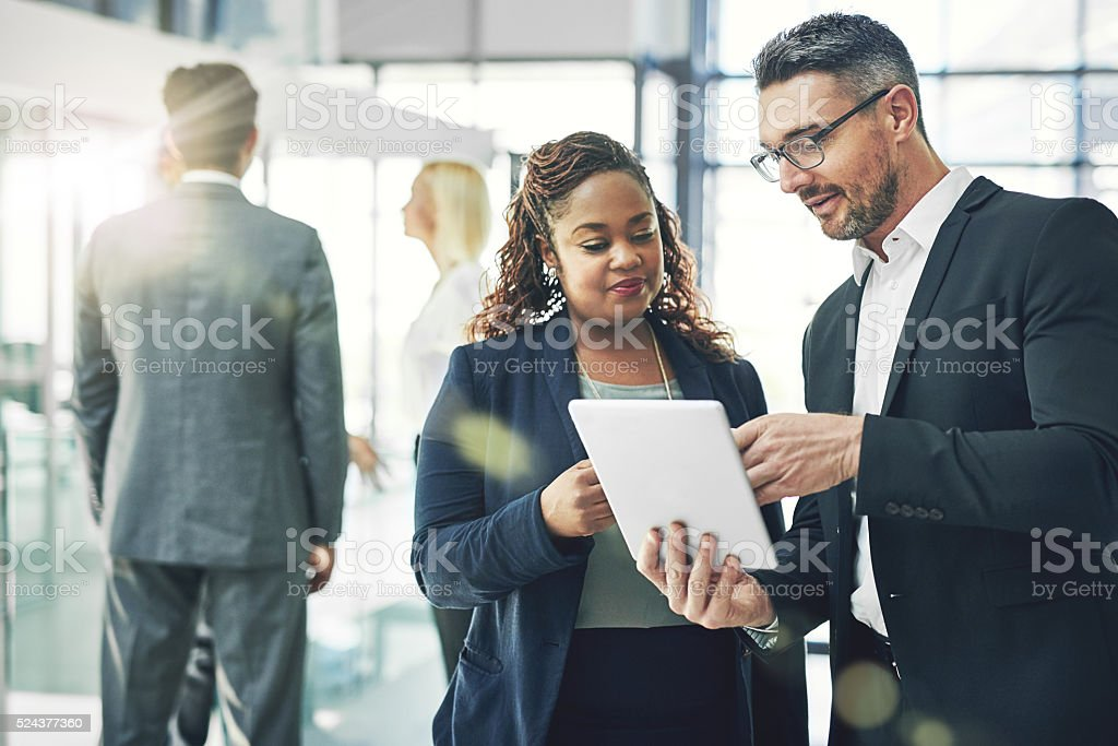 Charting new ways to do business stock photo