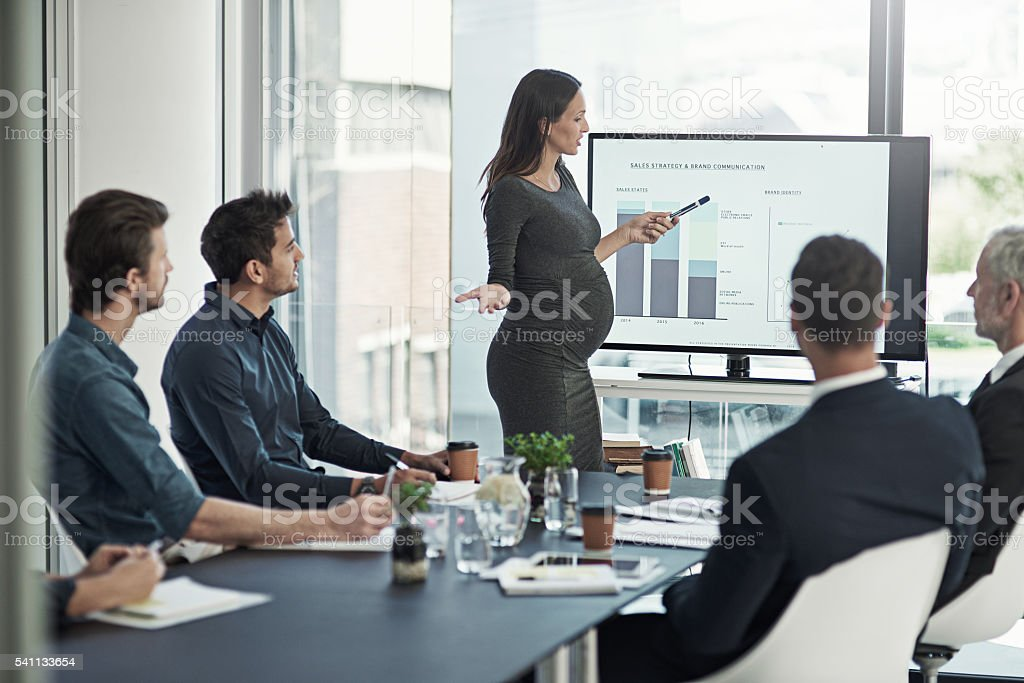 Charting their company's brand stock photo