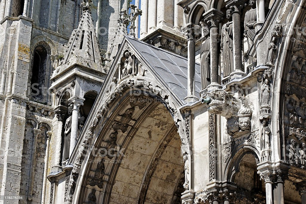 Chartres Cathedral, detail 00 stock photo