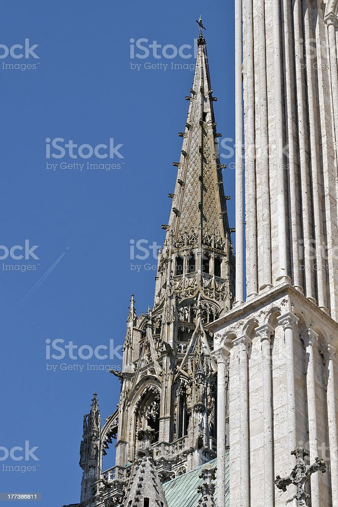 Chartres Cathedral north tower 00 stock photo