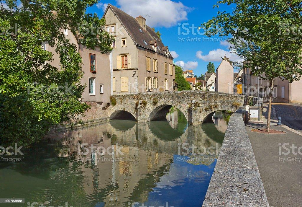 Chartres cityscape stock photo