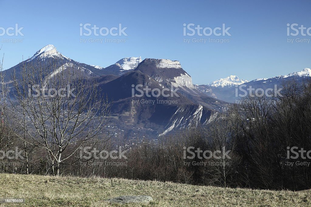 Chartreuse and Mont Blanc stock photo