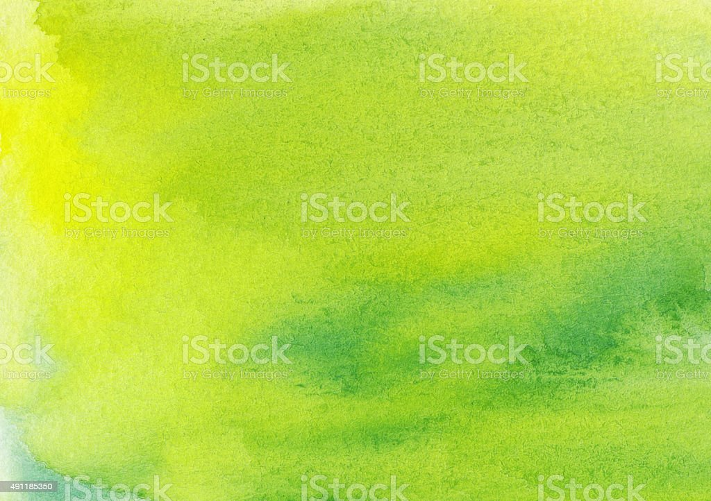 Chartreuse and yellow hand painted background stock photo