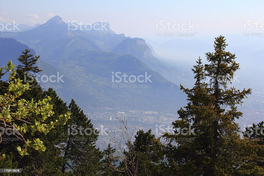 Chartreuse Mountain Range from Moucherotte. royalty-free stock photo